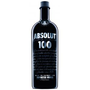 Absolut 100 Black Bottle 1L